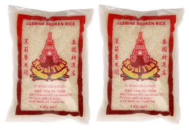 [ 2x 1kg ]  ROYAL THAI Bruchreis mit Jasminduft / Jasmin Broken Rice