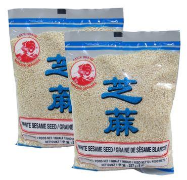 [ 2x 227g ] COCK Sesamsamen, weiß / Sesam / White Sesame Seed