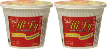 [ 2x 65g ] Mi Ly A-One Instant Cup-Nudeln [ Huhngeschmack ]