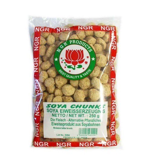 0,72€/100g) [ 250g ] NGR Soja Kugeln / Fleisch-Alternative SOYA ...