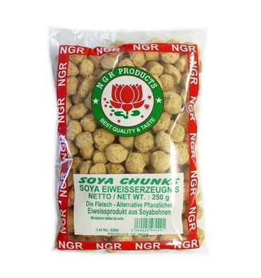 [ 250g ] NGR Soja Kugeln / Fleisch-Alternative SOYA CHUNKS