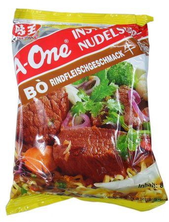 A-One [ 10x 85g ] Instant Nudelsuppe [ Rindfleischgeschmack ]