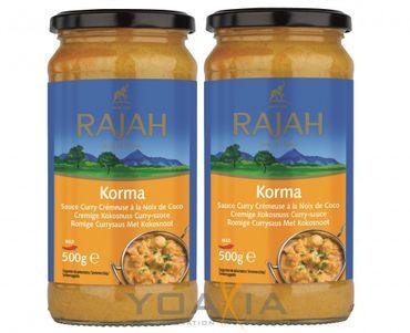 SPAREN - [ 2x 500g ] RAJAH [ Korma ] Cremige Kokosnuss-Curry Sauce