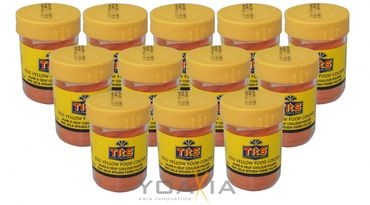 [ 12x 25g ]  TRS Lebensmittelfarbe [ GELB ] Pulver / egg yellow food colour