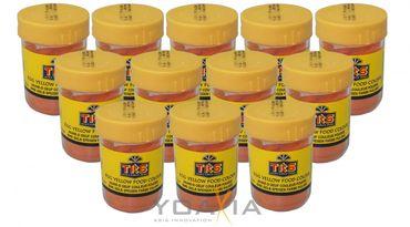 [ 12x 25g ]  TRS Lebensmittelfarbe [ GELB ] Pulver / egg yellow food colour