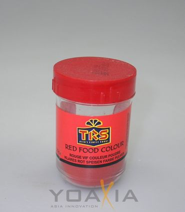 [ 12x 25g ] TRS Lebensmittelfarbe [ ROT ] Pulver / red food colour
