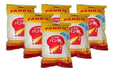[ 6x 200g ] LOBO PANKO Brotkrumen nach japanischer Art / Tempura / Breadcrumbs
