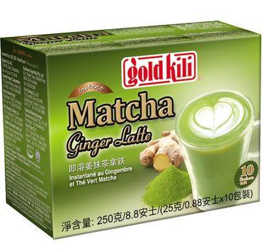 [ 10x 25g ] GOLD KILI Instant MATCHA Ginger Latte Getränk / Ingwer Latte