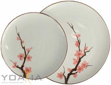 [ SAKURA ]  Essteller / Sushi-Teller rund Ø 22,5 cm