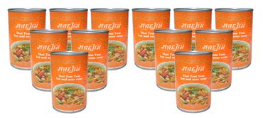 [ 12x 410ml ] MAEJIN Thailändische scharf/saure Tom Yum Suppe / Thai Hot & Sour Soup
