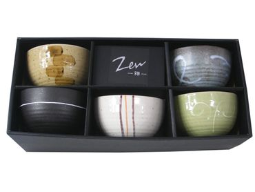 "5 Matcha Teeschalen - Set in 5 verschiedenen Designs - MADE IN JAPAN von "" Zen """