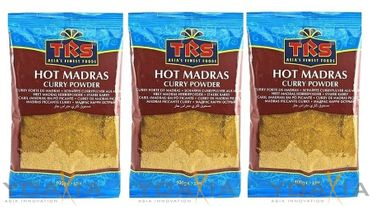[ 3x 100g ] TRS Scharfes Currypulver aus Madras / HOT Madras Curry Powder
