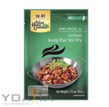 [ 3x 50 ] ASIAN HOME GOURMET Würzpaste für Szechuan Kung Pao Pfanne