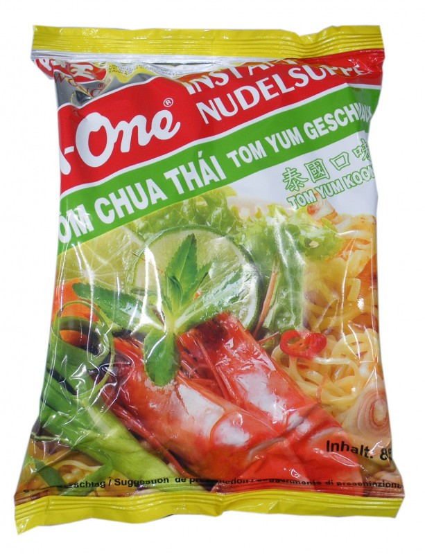 A-One [ 10x 85g ] Instant Nudelsuppe [ Tom Yum Geschmack ]