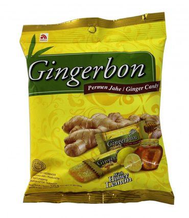 [ 20x 125g ] AGEL Ingwer Bonbons mit Honig & Zitrone Aroma / Natural HONEY LEMON