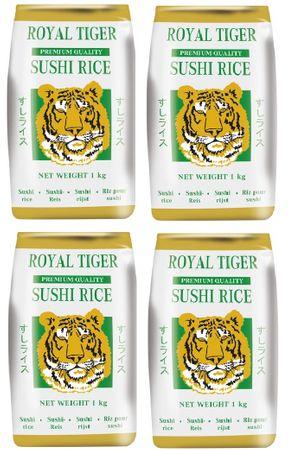 [ 4x 1kg ] ROYAL TIGER Sushi Reis PREMIUM QUALITY Sushi Rice Sushireis