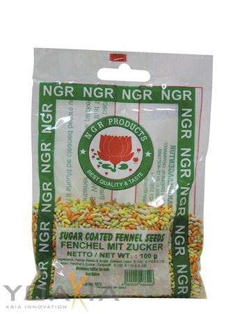 [ 100g ] NGR Fenchel bunt kandiert SUGAR COATED FENNEL SEEDS Fenchel mit Zucker