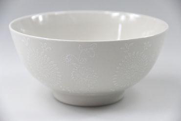 [ ELEGANT ] Suppen-/Nudel-/Reis-Schale Ø 15cm / cremeweiß mit floralem Design