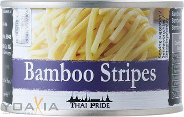[ 4x 140g ATG ] THAI PRIDE Bambussprossen Streifen / Bambus-Streifen / Bamboo Stripes