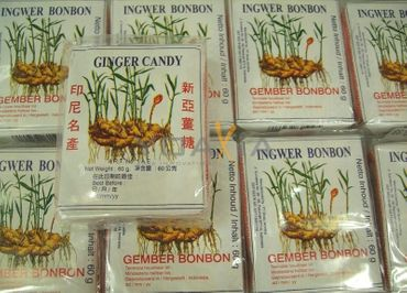 [ 25x 56g ] SINA GINGER CANDY / Ingwerbonbons / Ingwer Bonbons / Gemberbonbons