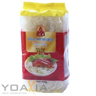 [ 400g ] iCV Reisfadennudeln Rice Vermicelli feine Reisnudeln Bún Gao