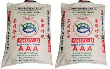 [ 2x 10kg ] AROY-D Thai Jasmin-Reis AAA Quality Thai Hom Mali Jasmine Rice