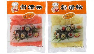 DUO Ingwerscheiben 1xWEIß 1x ROT je100g ATG eingelegter Sushi Ingwer