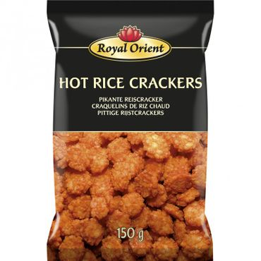 [ 150g ] Royal Orient HOT RICE CRACKERS Pikante Reiscracker