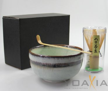 Matcha Set 3-teilig Schale [ Chawan ]  Bambusbesen [ Chasen ] Bambuslöffel  #3