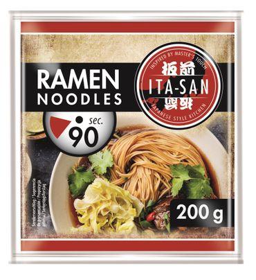 [ 10x 200g ] ITA-SAN Ramen Noodles Vorgekochte RAMEN Nudeln nach japanischer Art