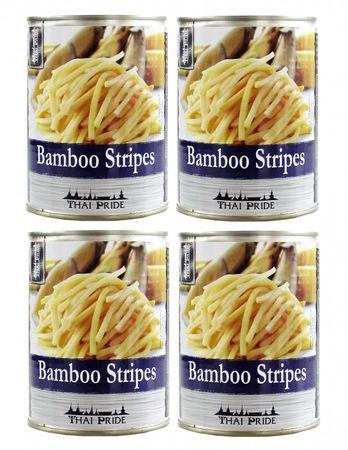 [ 4x 300g ATG ] THAI PRIDE Bambussprossen Streifen /  Bambus-Streifen / Bamboo Stripes