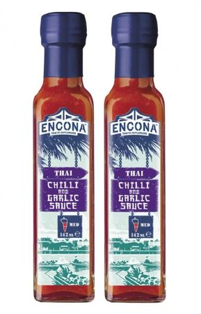 [ 2x 142ml /150g ] ENCONA Thai Chilli and Garlic Sauce / Chili und Knoblauch