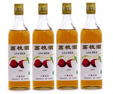 [ 4x 600ml ] CHINA LYCHEE alkoholisches Litschi Getränk Lycheewein 14% Vol. #22