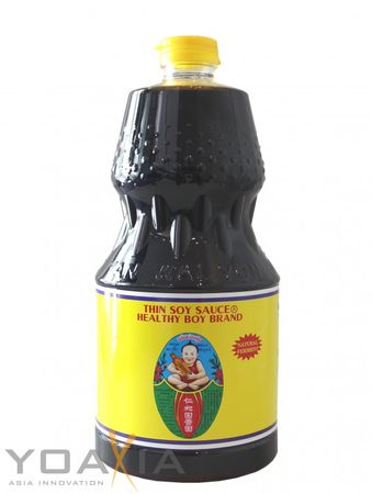 [ 2 Liter ] HEALTHY BOY BRAND Helle Sojasauce / Thin Soy Sauce natural ferment