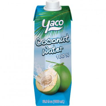 [ 1000 ml ] YACO Kokosnusswasser 100% / Kokoswasser Coconut Water 100% Natural