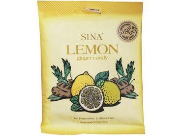 [ 36g ] SINA LEMON ginger candy / Ingwer- Kaubonbon Zitronengeschmack Zuckerfrei