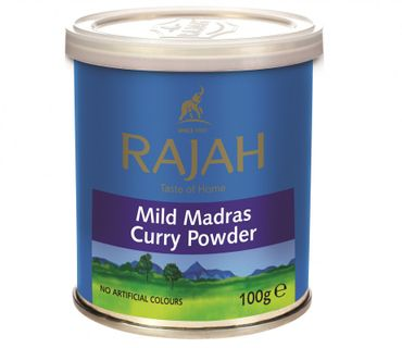 [ 100g ] RAJAH Mildes Madras Curry Pulver / MILD Madras Curry Powder
