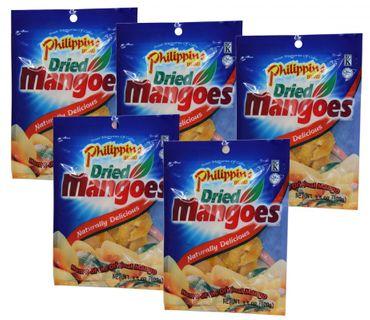 [ 5x 100g ] Philippine BRAND getrocknete Mangos  Mango-Streifen / Dried Mangoes