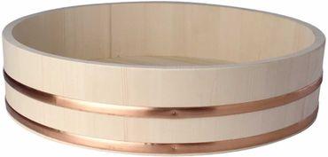 Hangiri  半切 Holzschüssel für Sushi Reis Ø 27 cm / H 7,5 cm Holzbottich