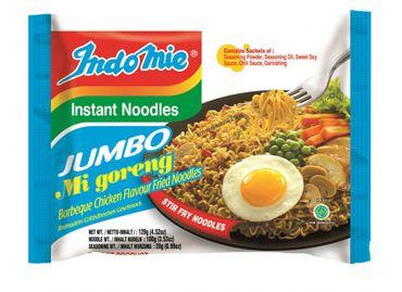 IndoMie Instant Noodles JUMBO [ 24x 128g ] BBQ Chicken Flavour Fried Noodles
