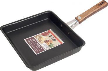 Sushi-Omelett- Pfanne 23x 22cm aus JAPAN / Tamago Eier - Pfanne [ schwarz ]