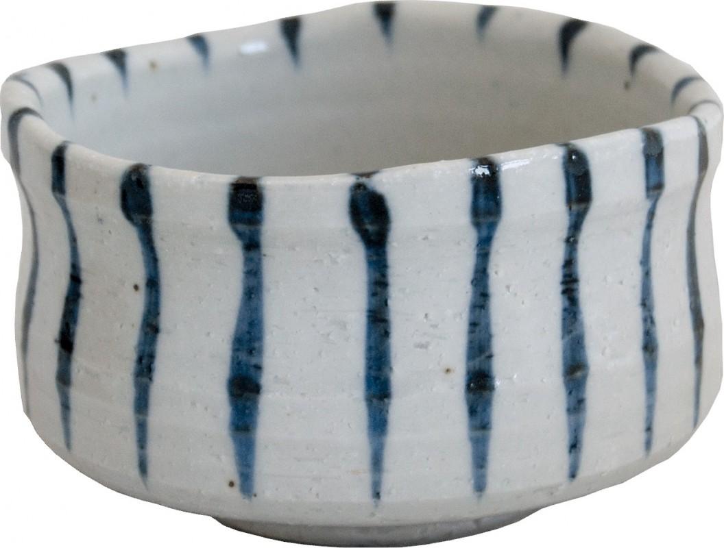 Matcha Teeschale / Tee Schale mit Streifen [Chawan]  Ø 10.5 x Höhe 6.8cm  MADE IN JAPAN #903