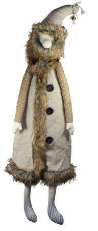 [ 80cm ] Deko Figur [ Wichtel, Waldgeist, Kobold, Nikolaus ] einfarbiger Mantel