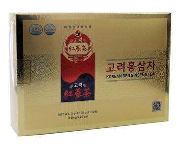 [ 50x 3g ] KOREAN RED GINSENG TEA Instantzubereitung für Teegetränk mit rotem Ginsengextrakt
