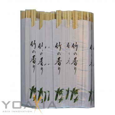 [ 100 Paar ] Einmal Essstäbchen aus Bambus 21cm einzeln verpackt  Einweg Essstäbchen