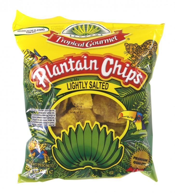 [ 10x 85g ] TROPICAL GOURMET Bananen Chips [ leicht gesalzen ] aus Ecuador