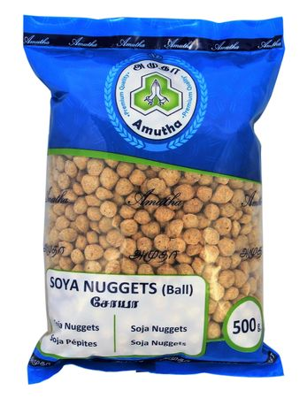 [ 500g ] Amutha Soya Nuggets (Ball) / Fleisch Alternative / Soja Kugeln