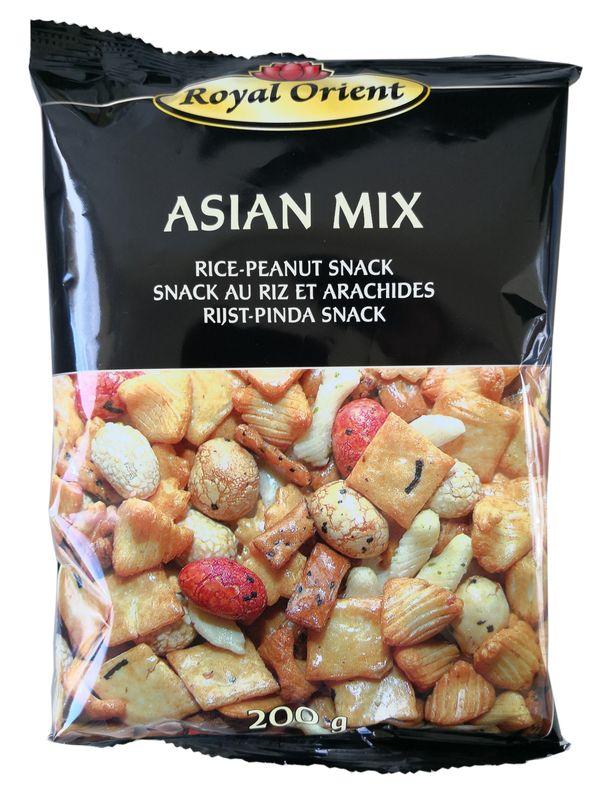 [ 200g ] Royal Orient ASIAN MIX Reis- Erdnuss- Snack / Cracker