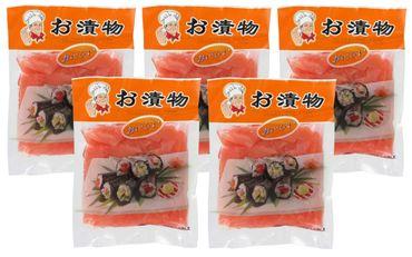 [ 5x 150g/ 100g ATG ] Ingwerscheiben ROT / Sushi Ingwer / eingelegter Ingwer