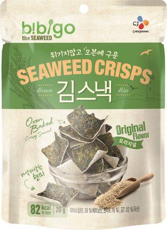 [ 20g ] BIBIGO Seealgen-Reis-Crisps / Reiscracker mit Seealgen, geröstet